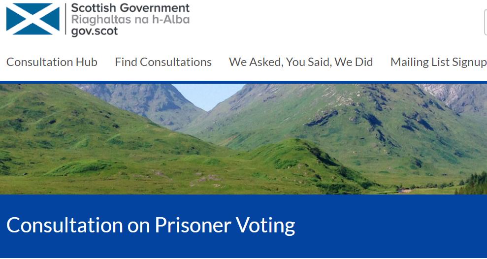 Prisoner voting consultation